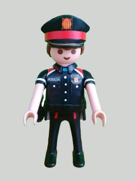 PLAYMOBIL PERSONALIZADO POLICÍA DE CATALUÑA MOSSOS D´ESQUADRA NUEVO UNIFORME HOMBRE