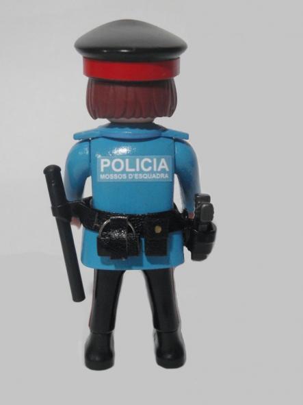 PLAYMOBIL PERSONALIZADO MOSSOS D´ESQUADRA POLICÍA DE CATALUÑA UNIFORME AÑOS 90 MUJER [1]
