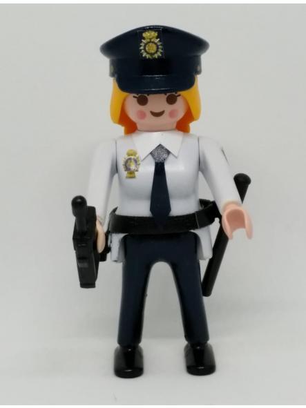 PLAYMOBIL PERSONALIZADO POLICÍA NACIONAL CNP UNIFORME DÉCADA 90  MUJER