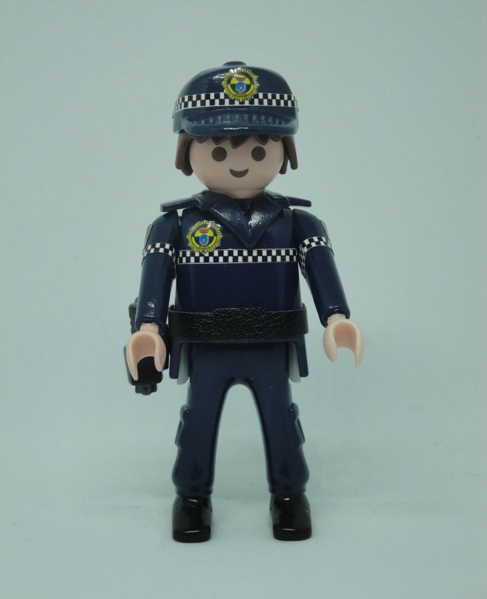 PLAYMOBIL PERSONALIZADO POLICÍA LOCAL UNIFORME MODELO COMUNIDAD VALENCIANA HOMBRE