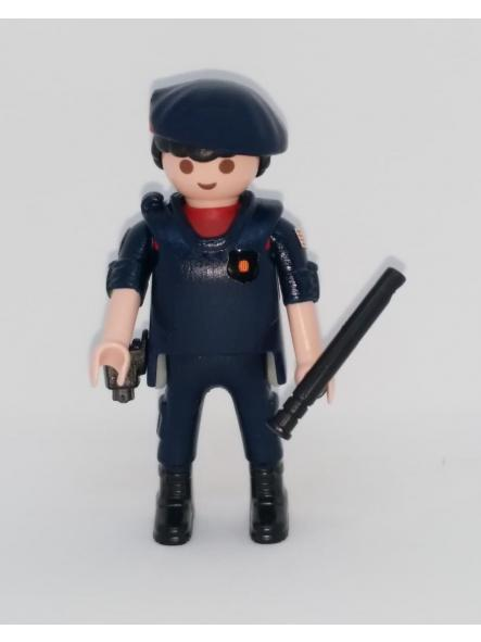 PLAYMOBIL PERSONALIZADO POLICÍA DE CATALUÑA MOSSOS D´ESQUADRA ARRO HOMBRE