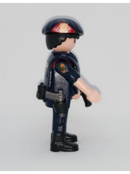 PLAYMOBIL PERSONALIZADO POLICÍA DE CATALUÑA MOSSOS D´ESQUADRA ARRO HOMBRE [3]