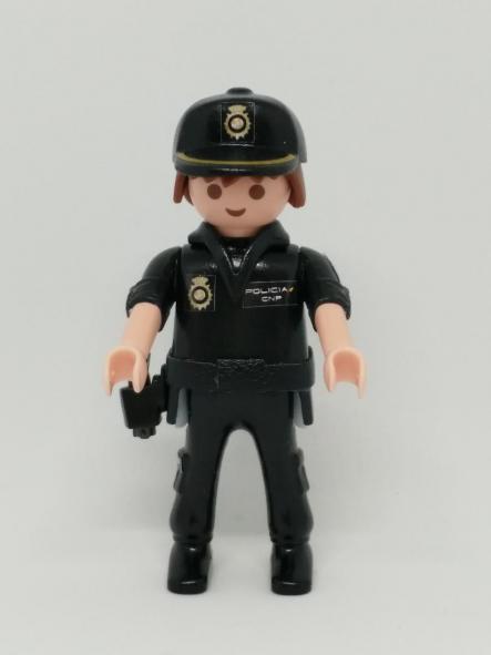 PLAYMOBIL PERSONALIZADO POLICÍA NACIONAL CNP UNIFORME SEGURIDAD CIUDADANA HOMBRE