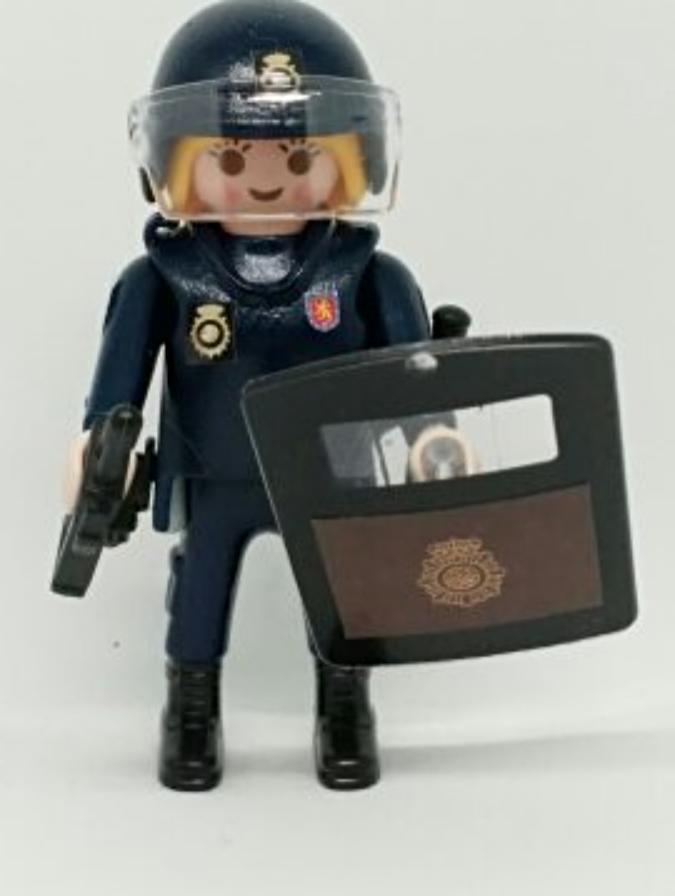 PLAYMOBIL PERSONALIZADO DE LA POLICÍA NACIONAL CNP UNIDAD DE INTERVENCIÓN POLICIAL UIP MUJER