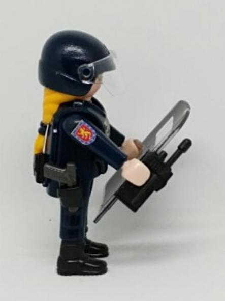 PLAYMOBIL PERSONALIZADO DE LA POLICÍA NACIONAL CNP UNIDAD DE INTERVENCIÓN POLICIAL UIP MUJER [2]