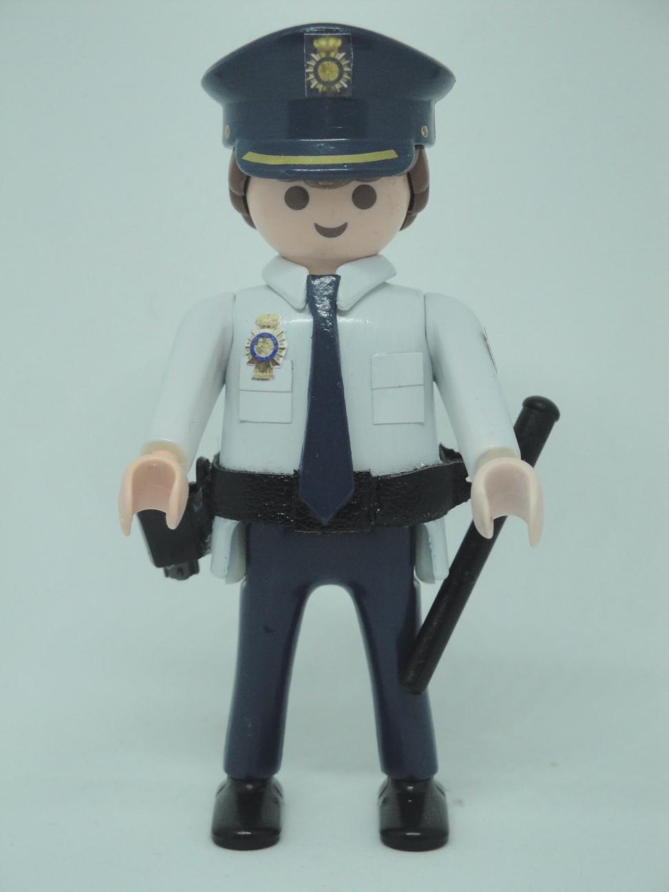 Playmobil personalizado policía nacional CNP uniforme años 90 hombre