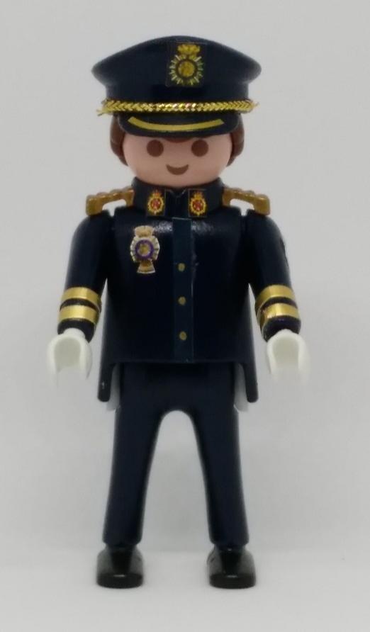 PLAYMOBIL PERSONALIZADO POLICÍA NACIONAL CNP UNIFORME GRAN GALA HOMBRE