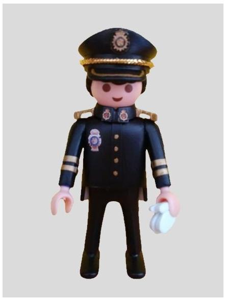 PLAYMOBIL PERSONALIZADO POLICÍA NACIONAL CNP UNIFORME GRAN GALA HOMBRE [1]