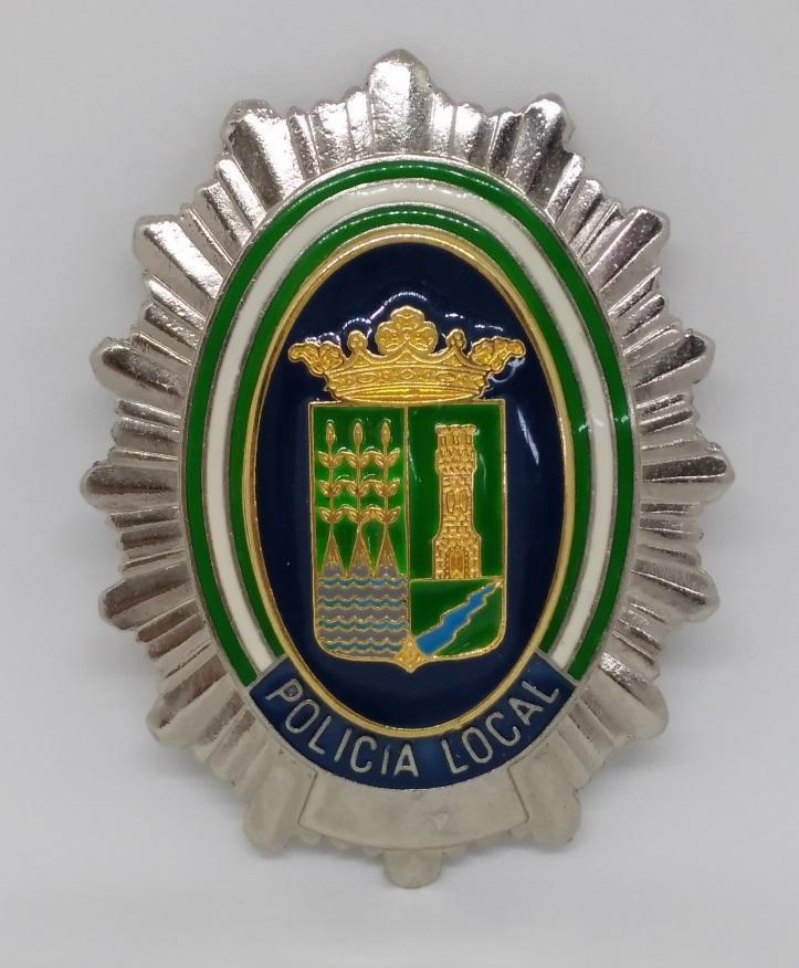PLACA DE PECHO DE LA POLICÍA LOCAL DE CUEVAS DEL ALMANZORA