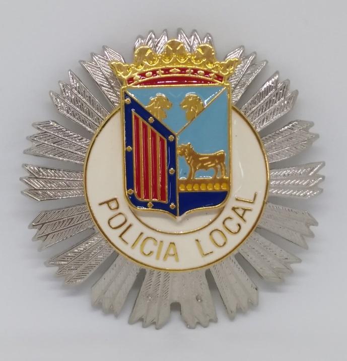 PLACA DE PECHO DE LA POLICÍA MUNICIPAL DE SALAMANCA