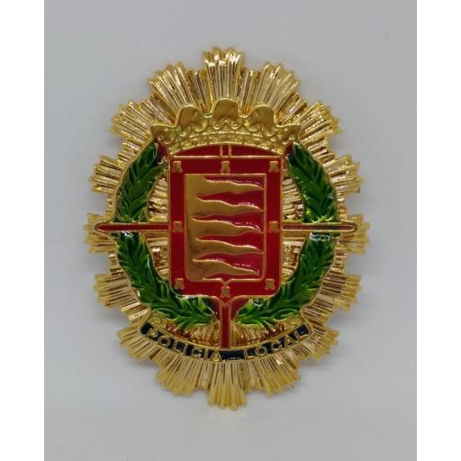 PLACA DE PECHO DE LA POLICÍA LOCAL DE VALLADOLID
