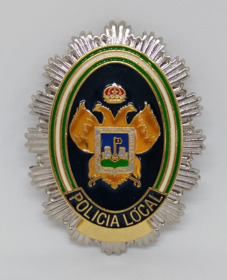 PLACA DE PECHO DE LA POLICÍA LOCAL DE VERA