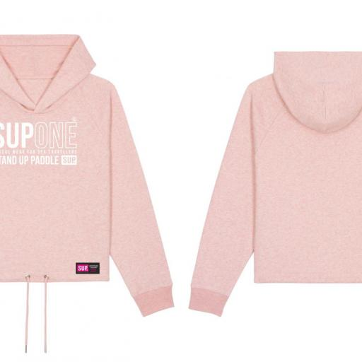 HOODIE CORTA COLLECTION ROSA