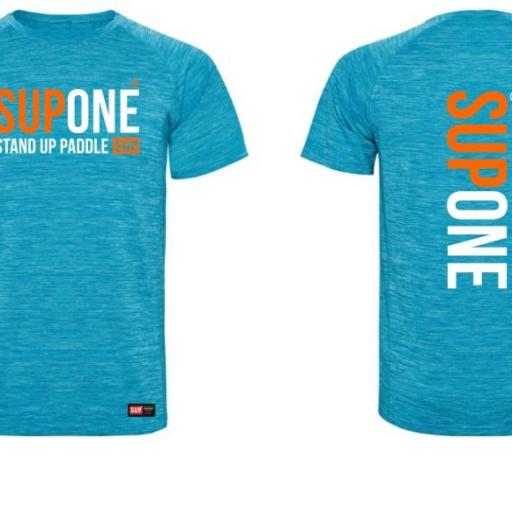 CAMISETA DRY  BLUE ORANGE  FLUOR