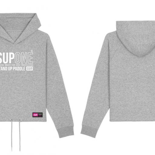 HOODIE CORTA COLLECTION GRIS