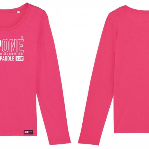 CAMISETA LONG COLLECTION ROSA