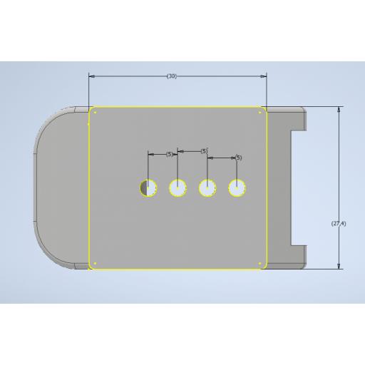 Leva magnética aluminio  [3]