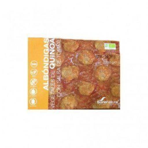 Albondigas Vegetales de Quinoa con Salsa de Tomate, 350g. BIO