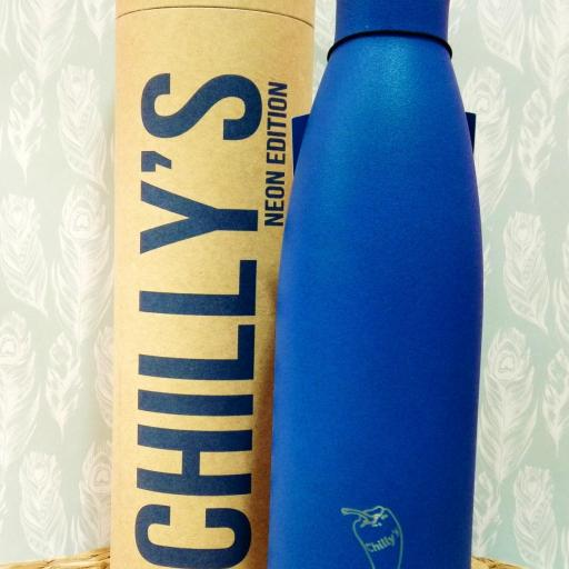 BOTTELA TERMO CHILLY AZUL NEON 500 ML.