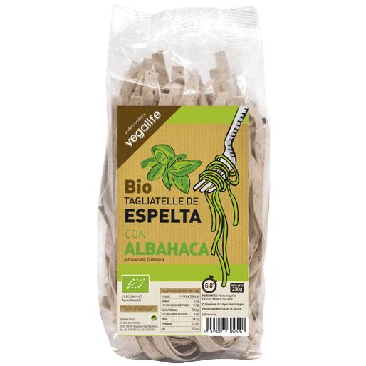 TAGLIATELLE DE ESPELTA CON ALBAHACA 250 GR.