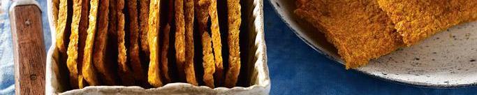 Crackers enzimáticos de zanahoria