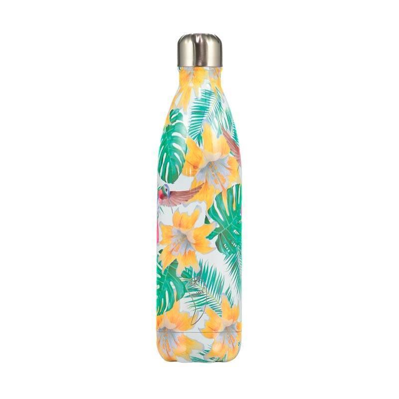 Botella Termo Chilly 500 ml. Edición Limitada Colibrí tropical.