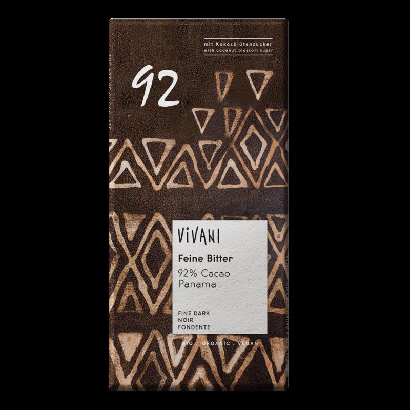 CHOCOLATE VIVANI 92% CACAO 80 GR.