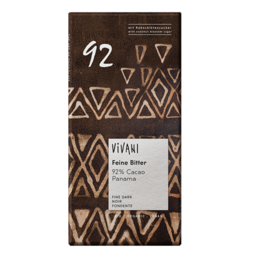 CHOCOLATE VIVANI 92% CACAO 80 GR.