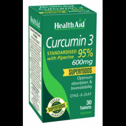 CURCUMIN 3, 30 TABLETAS