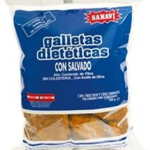 GALLETAS  DIETETICAS CON SALVADO 300 GR.