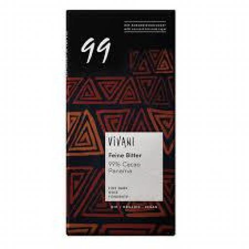CHOCOLATE VIVANI 99% CACAO 80 GR.