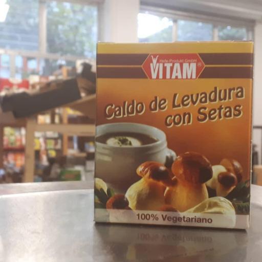 CALDO DE LEVADURA CON SETAS 150 GR.