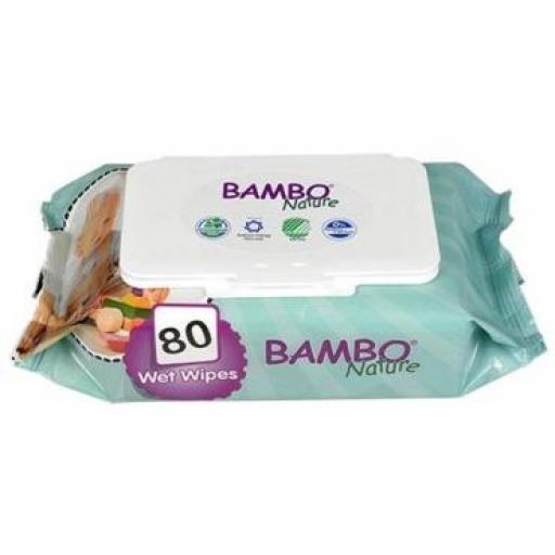 Toallitas Húmedas Ecológicas 80 uds. - Bambo Nature