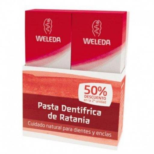WELEDA Duplo Pasta Dentifrica de Ratania 2x75ML
