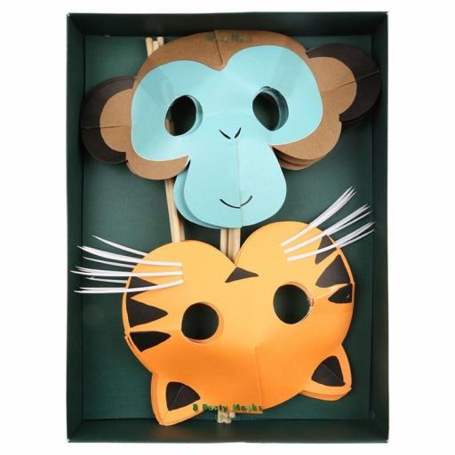 Máscaras de mono y tigre