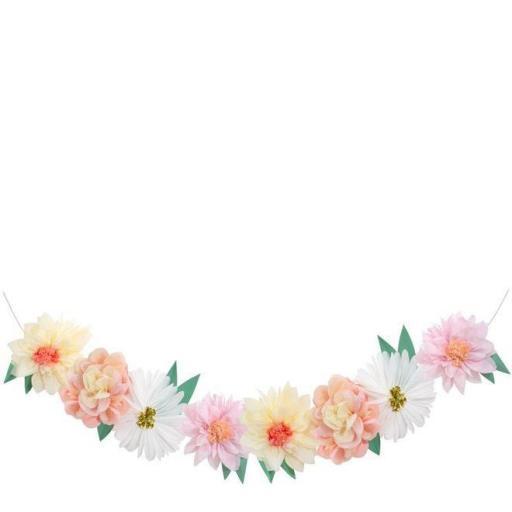 Guirnalda de flores gigantes