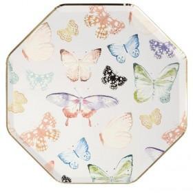 Platos grandes mariposas