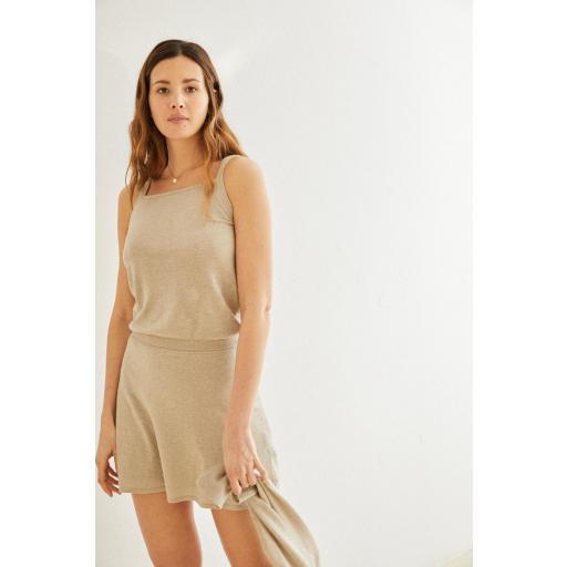 Mini falda de punto Florence piedra [1]