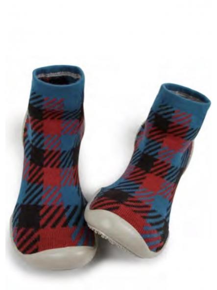 Zapatillas para casa-modelo tartan escocés