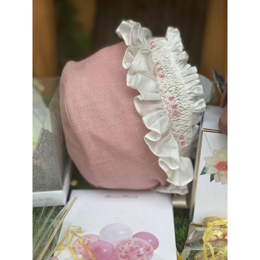 Capota nidos hilo rosa