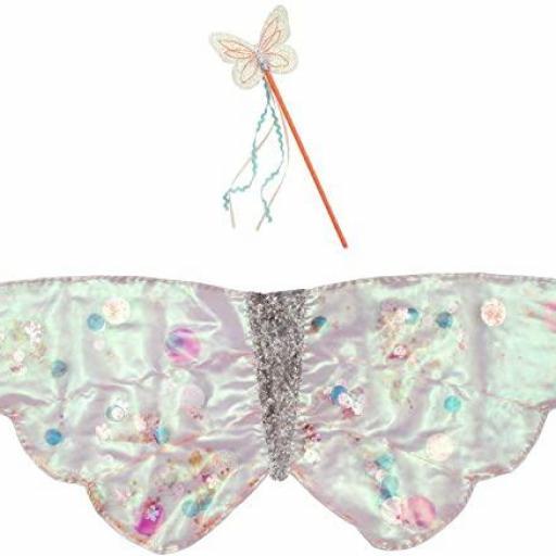 Disfraz alas de mariposa con lentejuelas