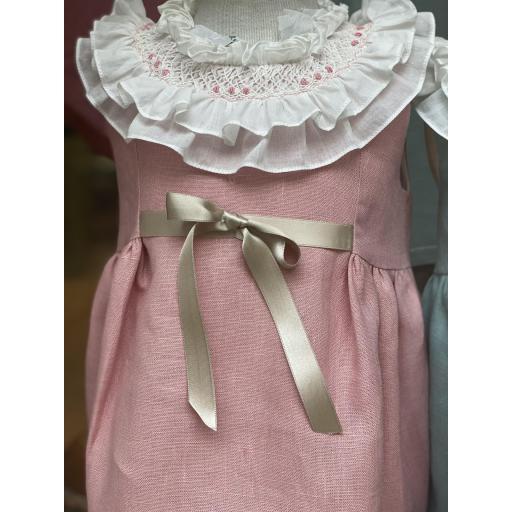 Vestido boli hilo rosa