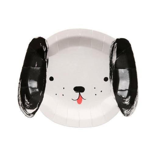 Platos de perros en blanco y negro [1]