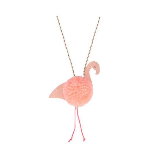 Collar Flamingo Pompom