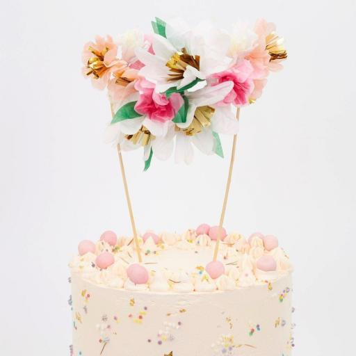 Topper Bouquet flores para tartas