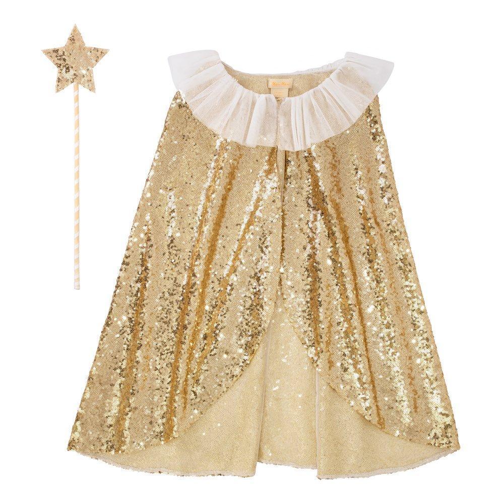 Disfraz capa reina oro