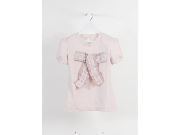 Camiseta lazo tul nude