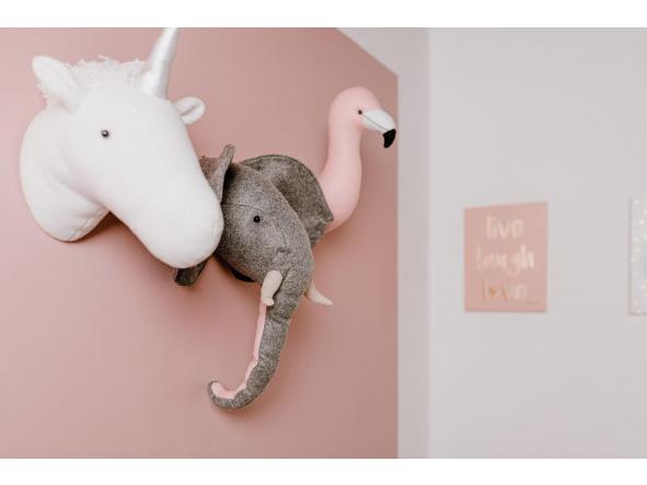 Animal Head Elephant fieltro -decoraciónn de pared [1]