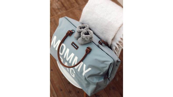 Mommy bag gris y blanco [3]
