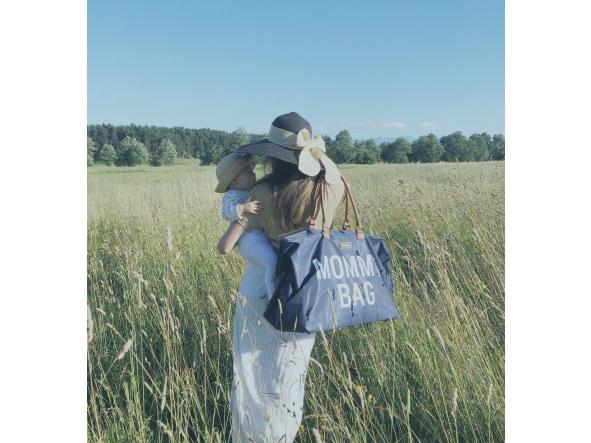 Mommy Bag Nursery Bag - Azul marino y blanca [3]